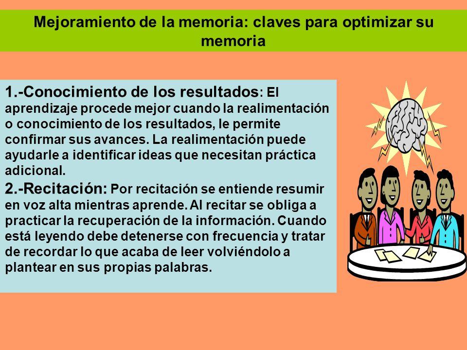 Mejoramiento de la memoria: claves para optimizar su memoria