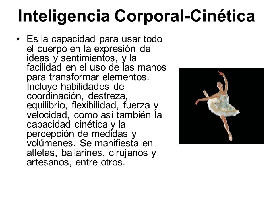Inteligencia Corporal-Cinética