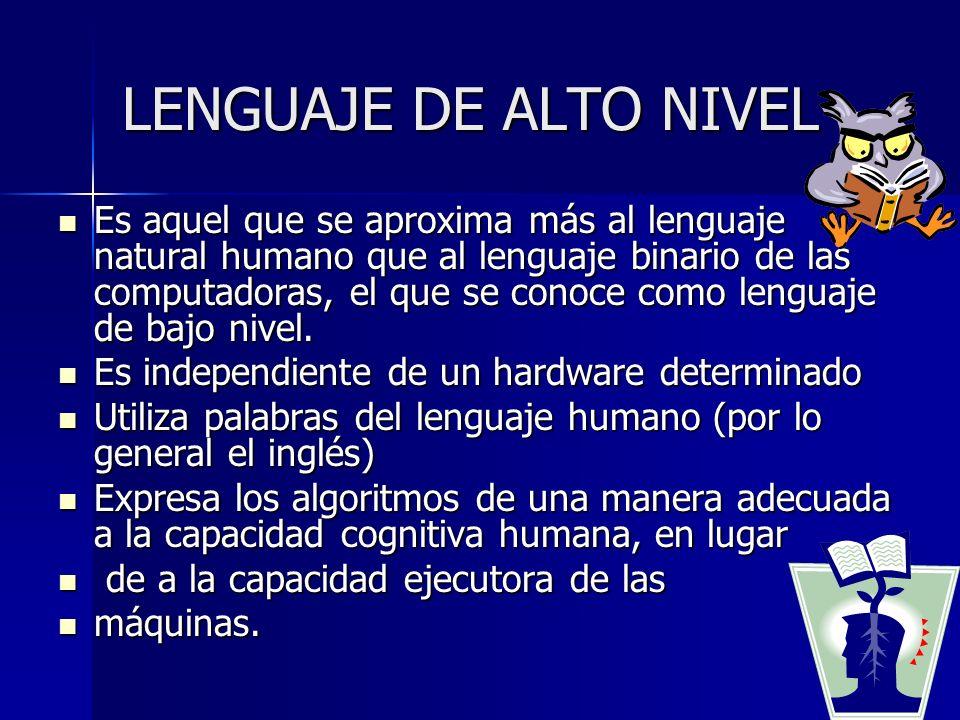 LENGUAJE DE ALTO NIVEL