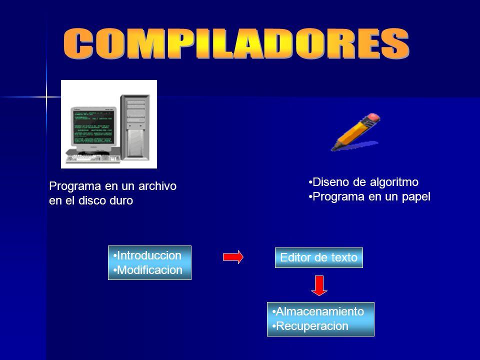 COMPILADORES Diseno de algoritmo
