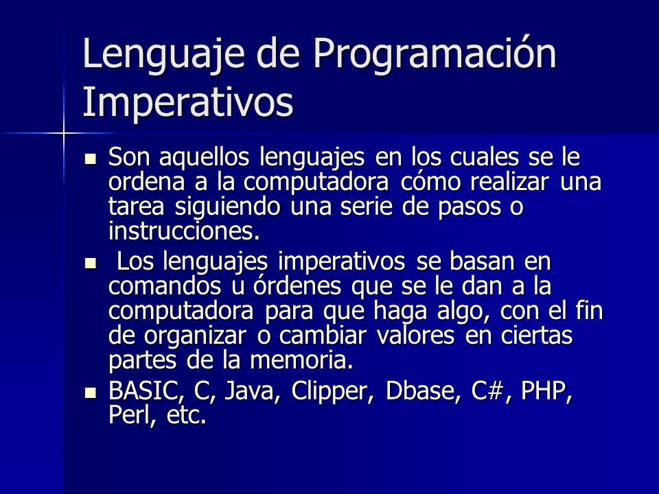 Lenguaje de Programación Imperativos
