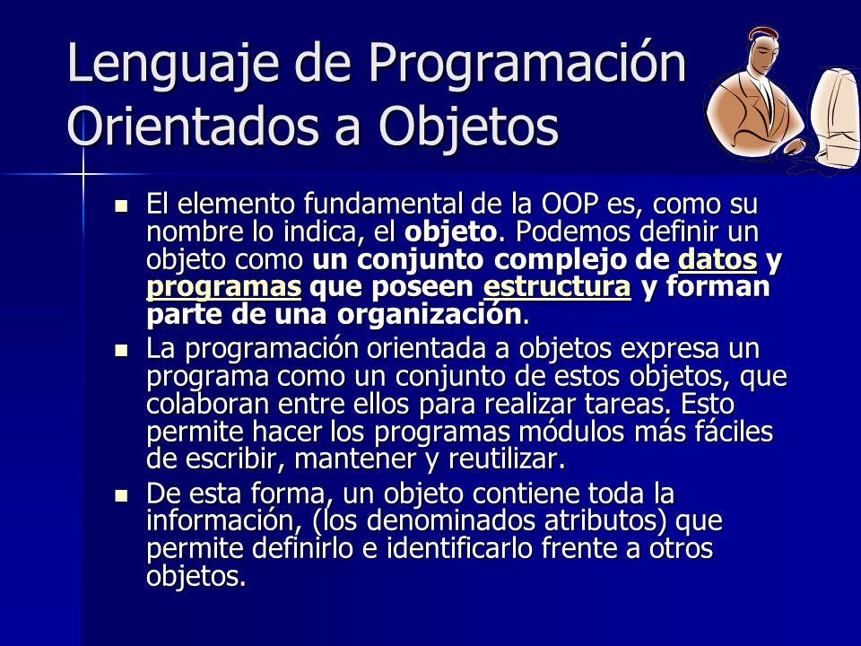 Lenguaje de Programación Orientados a Objetos