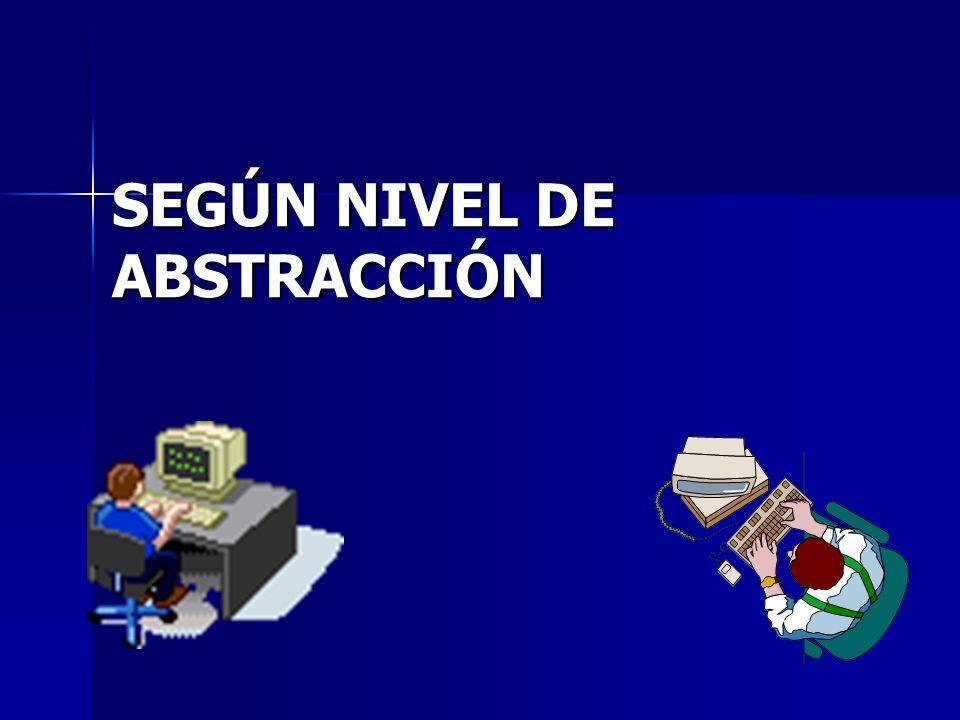 SEGÚN NIVEL DE ABSTRACCIÓN