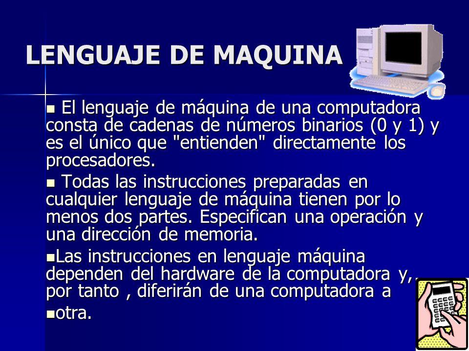LENGUAJE DE MAQUINA