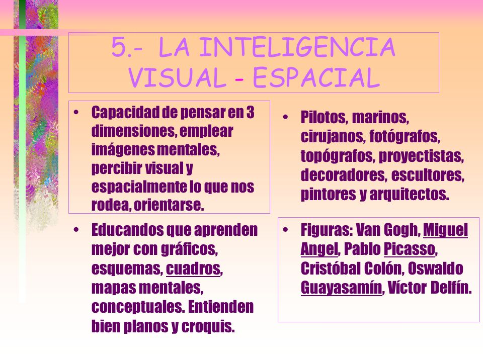 5.- LA INTELIGENCIA VISUAL - ESPACIAL