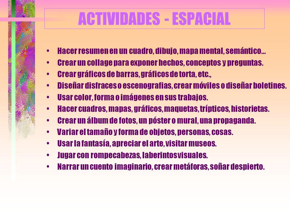 ACTIVIDADES - ESPACIAL