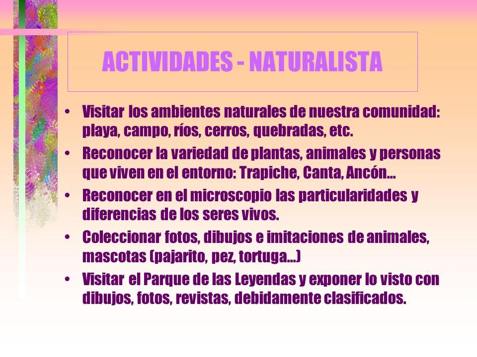 ACTIVIDADES - NATURALISTA