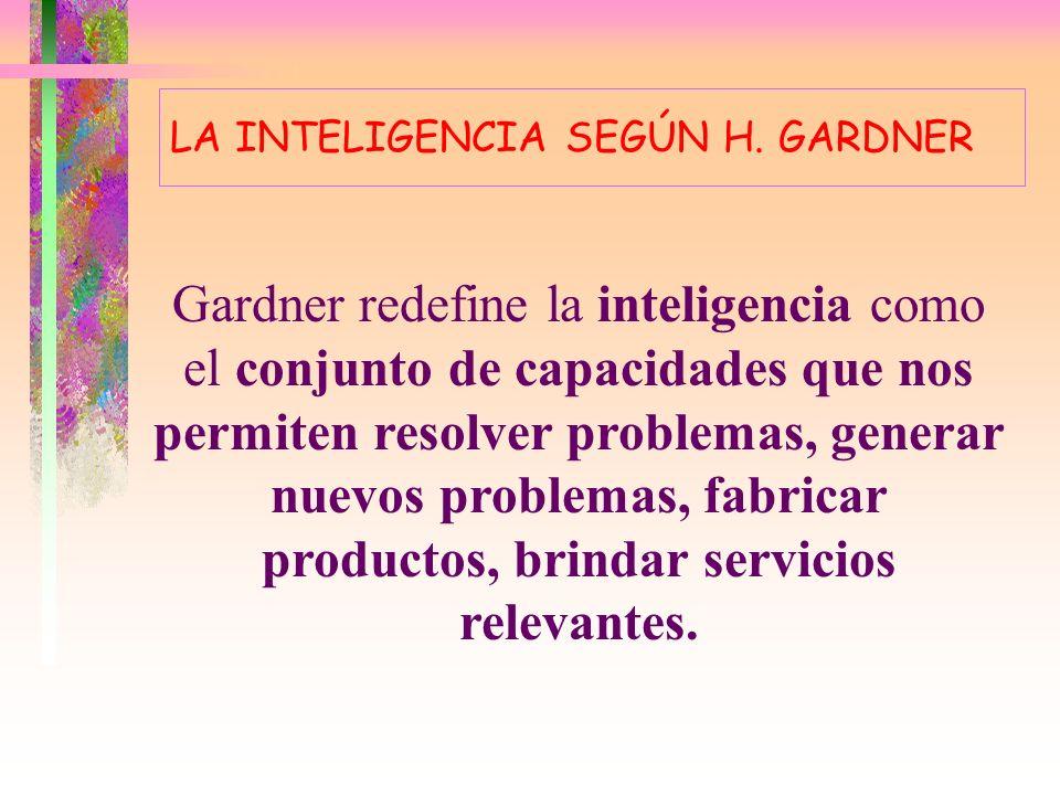 LA INTELIGENCIA SEGÚN H. GARDNER