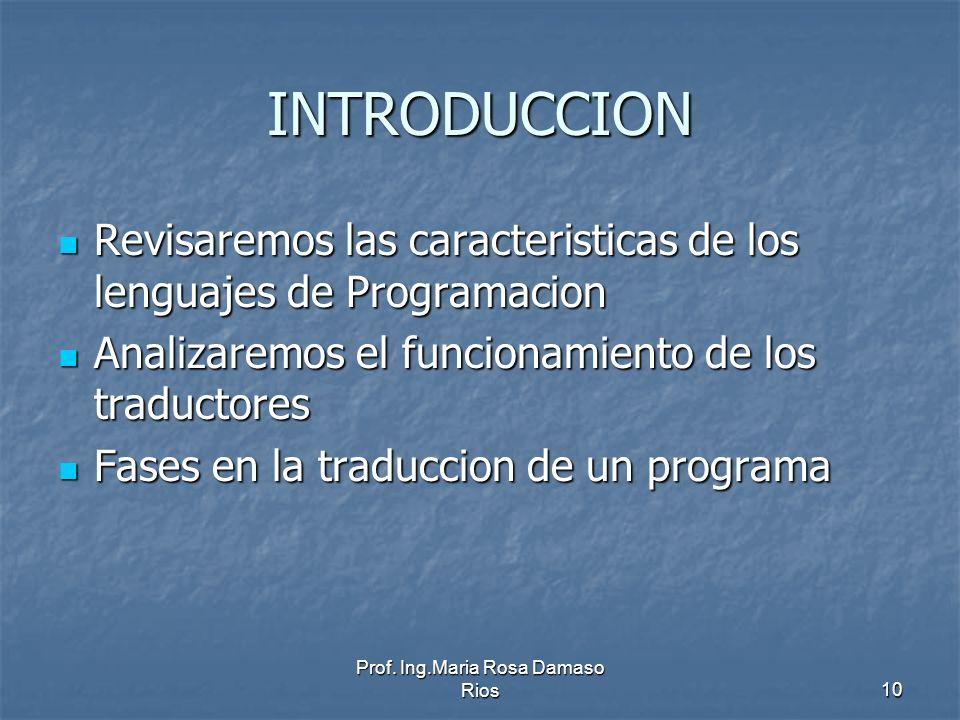 Prof. Ing.Maria Rosa Damaso Rios