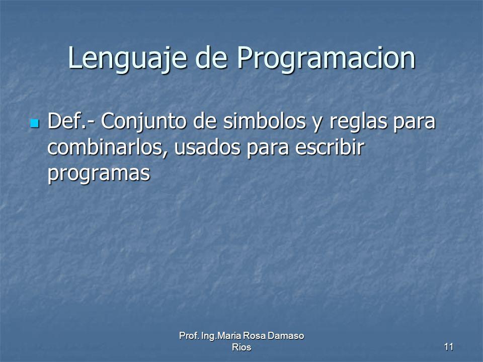 Lenguaje de Programacion