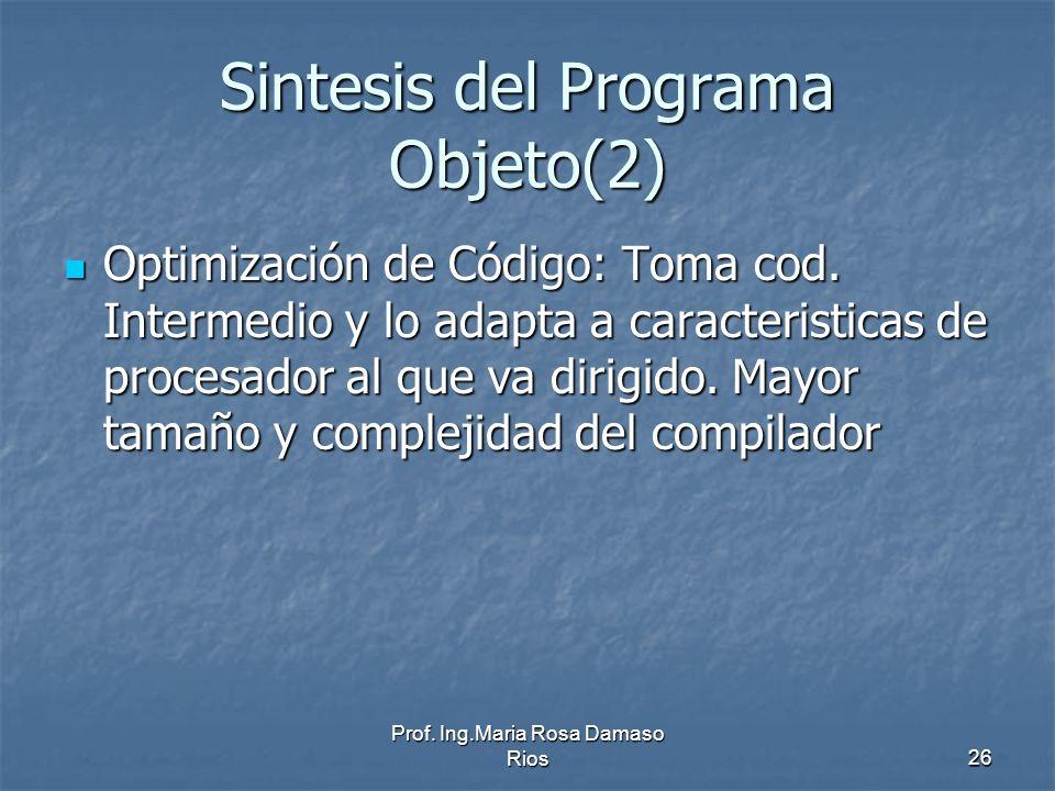 Sintesis del Programa Objeto(2)