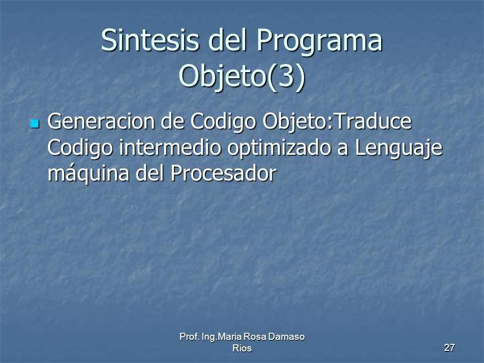 Sintesis del Programa Objeto(3)