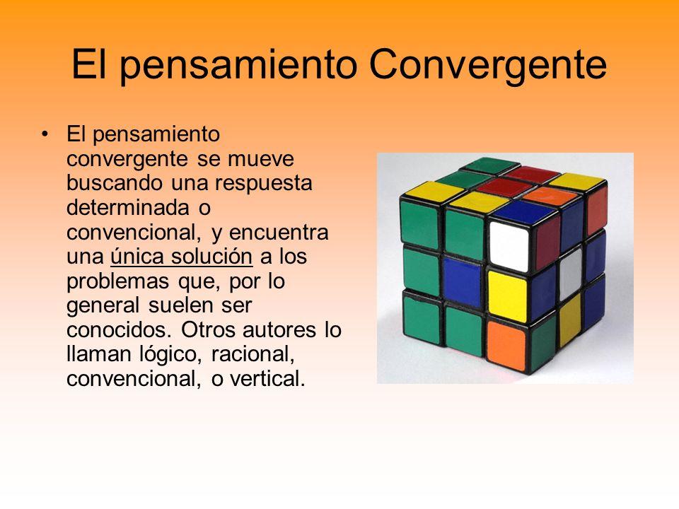 El pensamiento Convergente