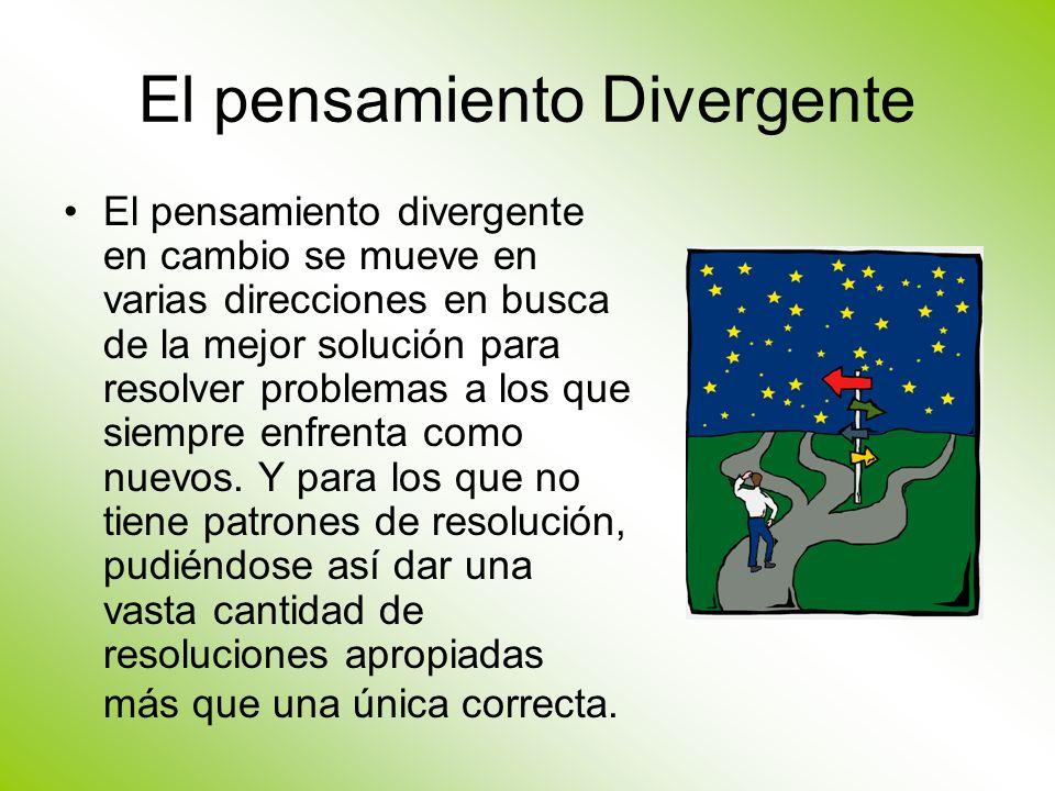 El pensamiento Divergente