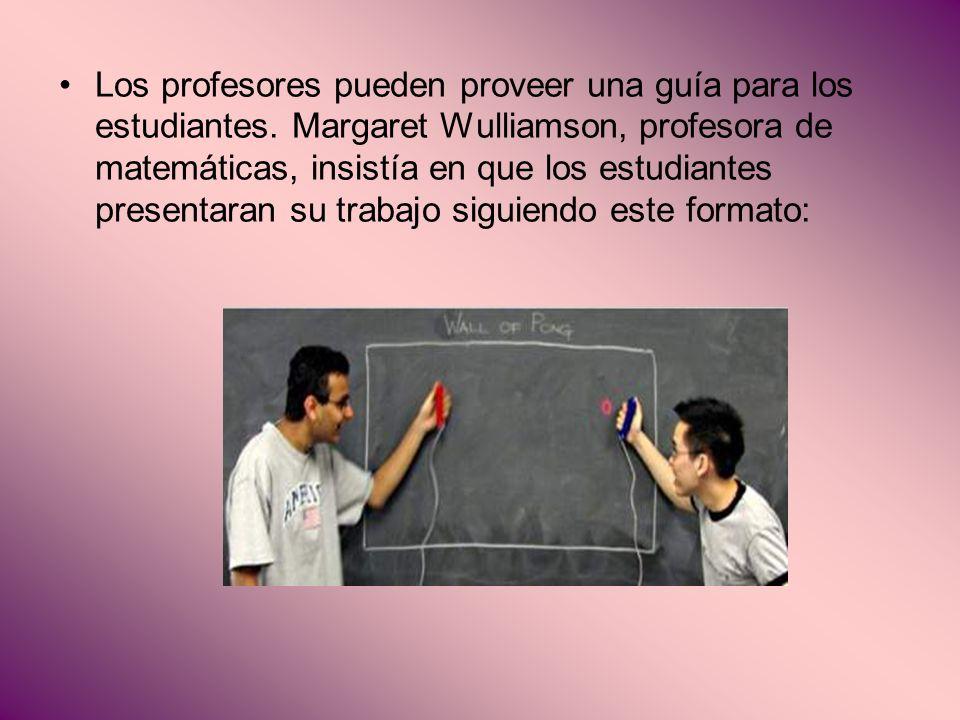Los profesores pueden proveer una guía para los estudiantes