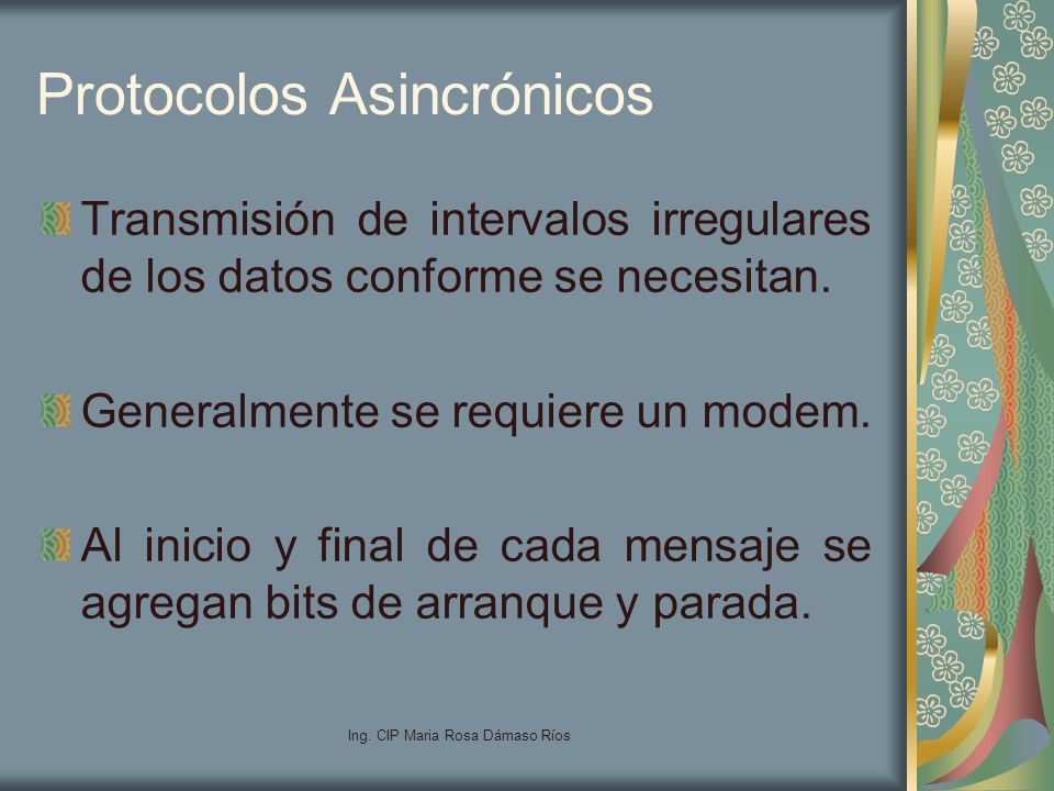 Protocolos Asincrónicos
