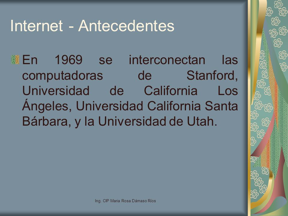 Internet - Antecedentes