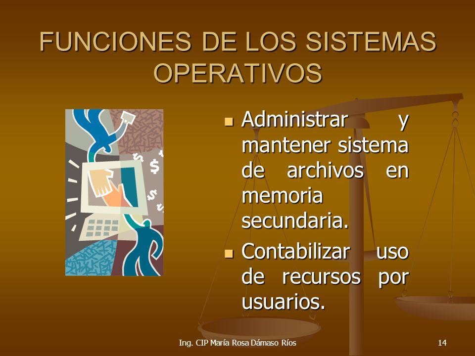 FUNCIONES DE LOS SISTEMAS OPERATIVOS