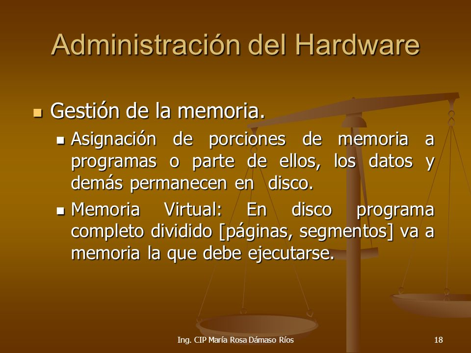 Administración del Hardware