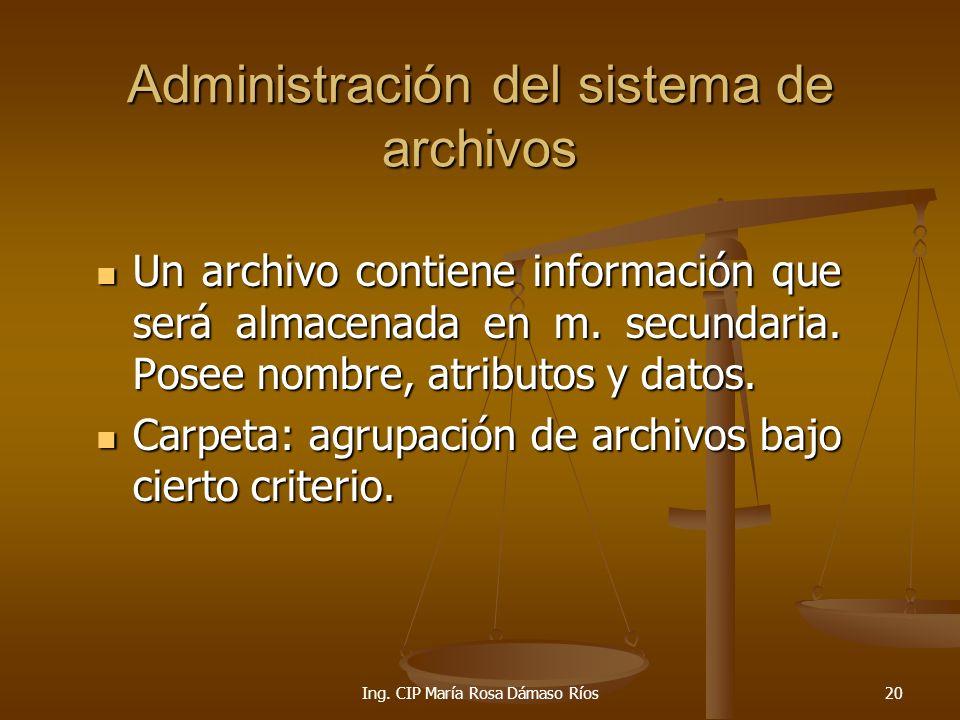 Administración del sistema de archivos