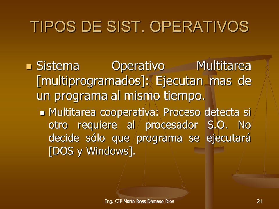 TIPOS DE SIST. OPERATIVOS