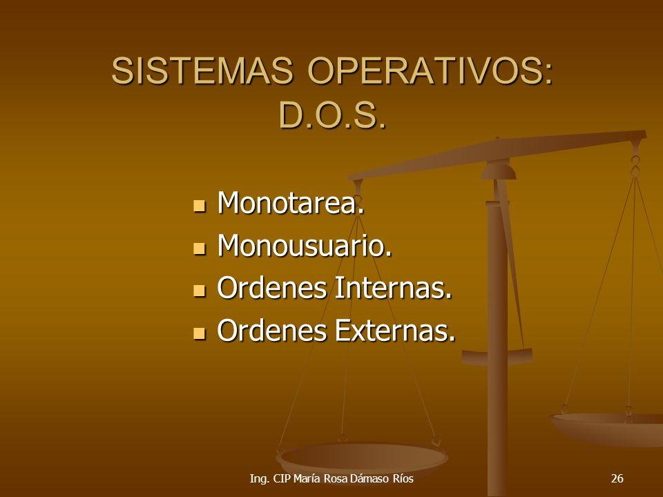 SISTEMAS OPERATIVOS: D.O.S.