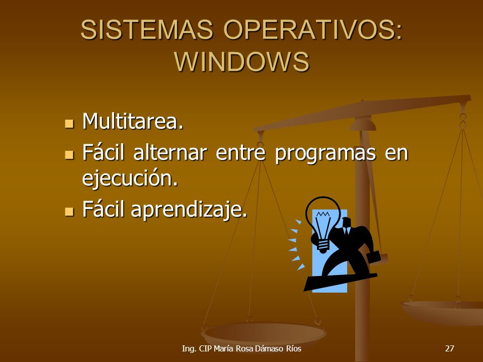 SISTEMAS OPERATIVOS: WINDOWS