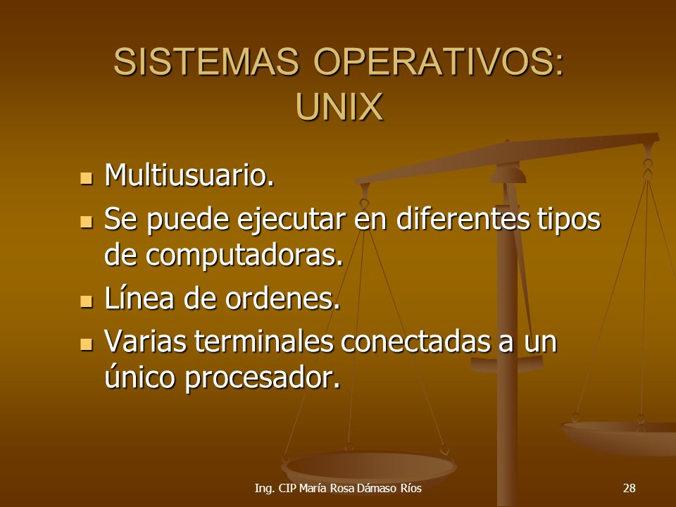 SISTEMAS OPERATIVOS: UNIX