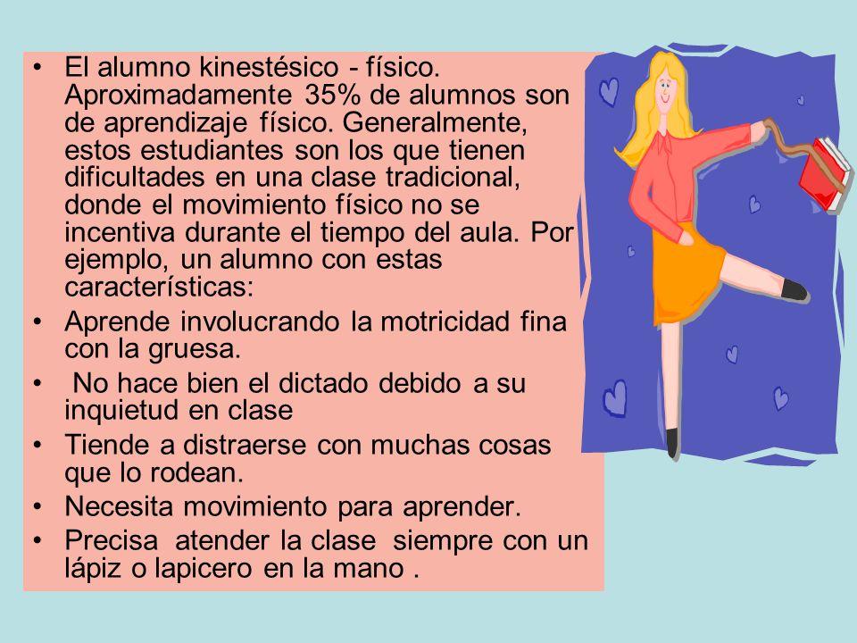 El alumno kinestésico - físico