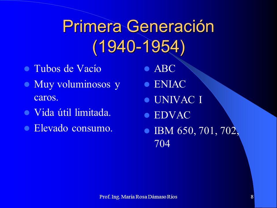 Primera Generación (1940-1954)