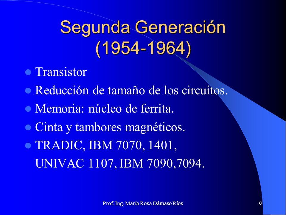 Segunda Generación (1954-1964)