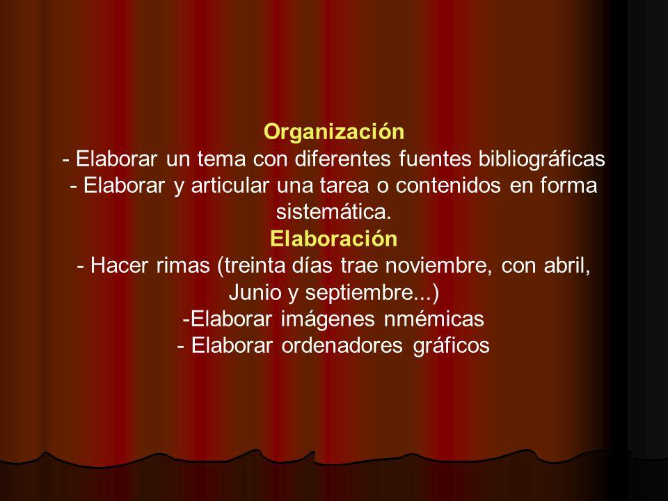 - Elaborar un tema con diferentes fuentes bibliográficas