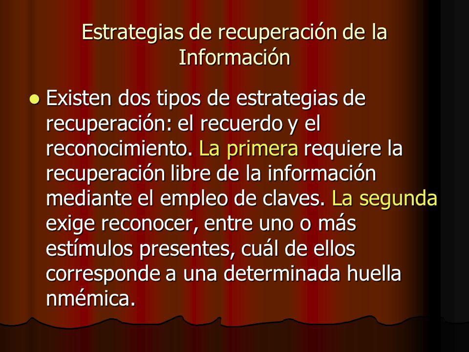 Estrategias de recuperación de la Información