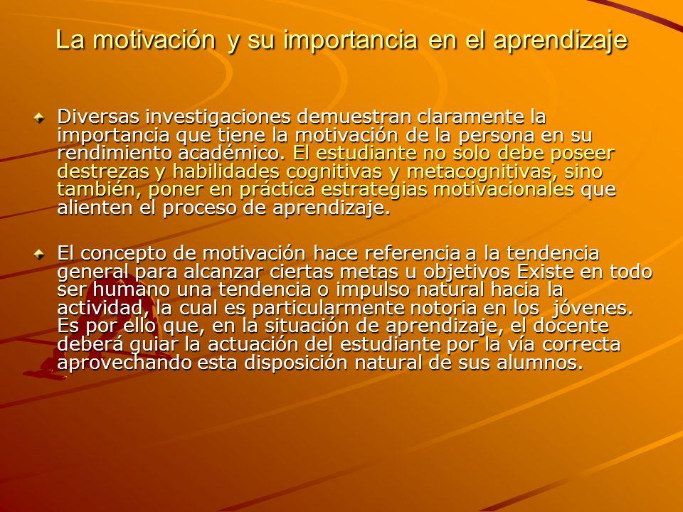 La motivación y su importancia en el aprendizaje
