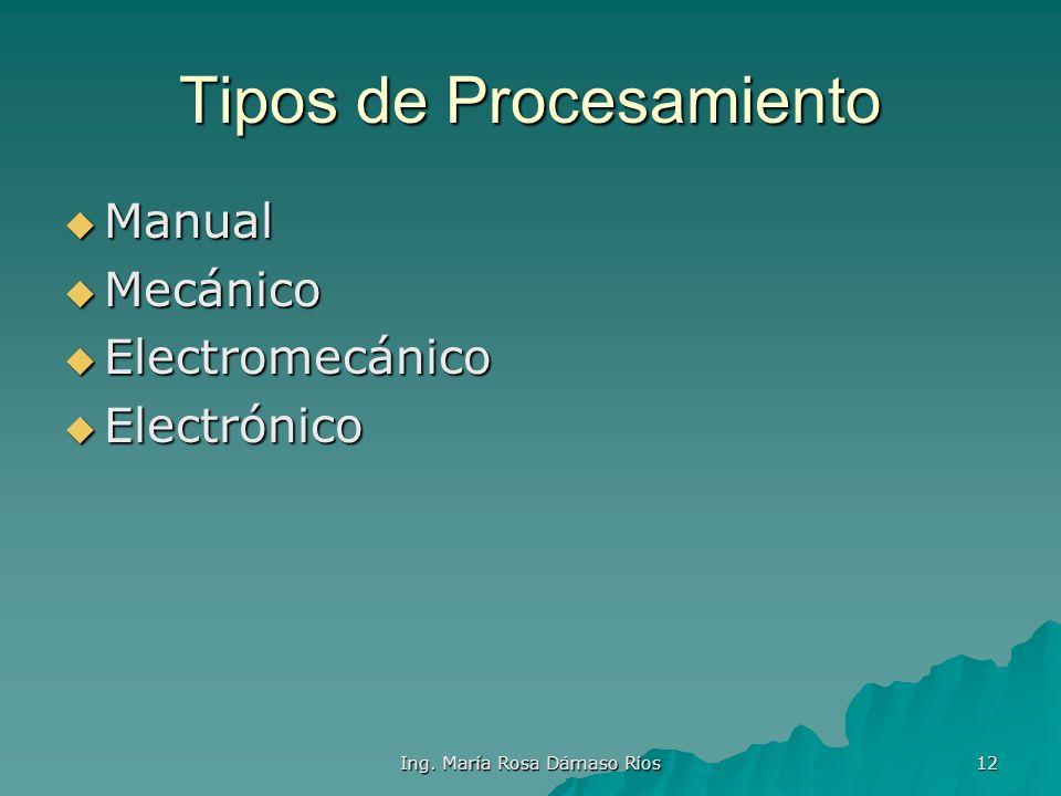 Tipos de Procesamiento