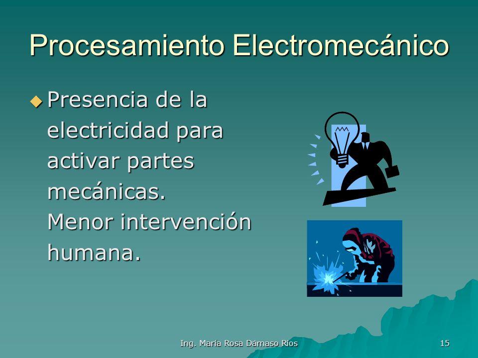 Procesamiento Electromecánico