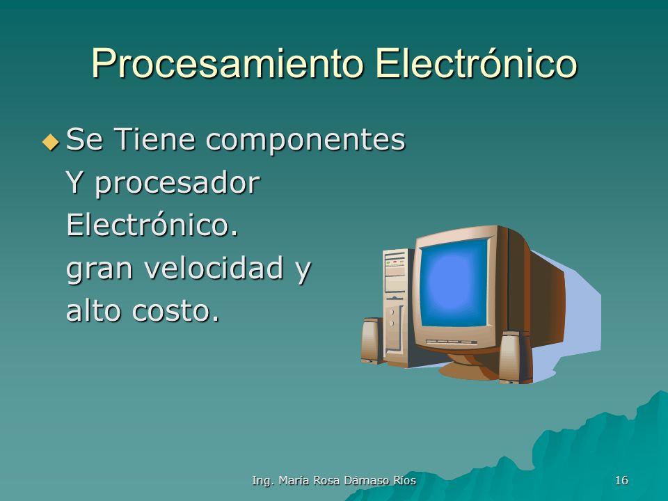 Procesamiento Electrónico