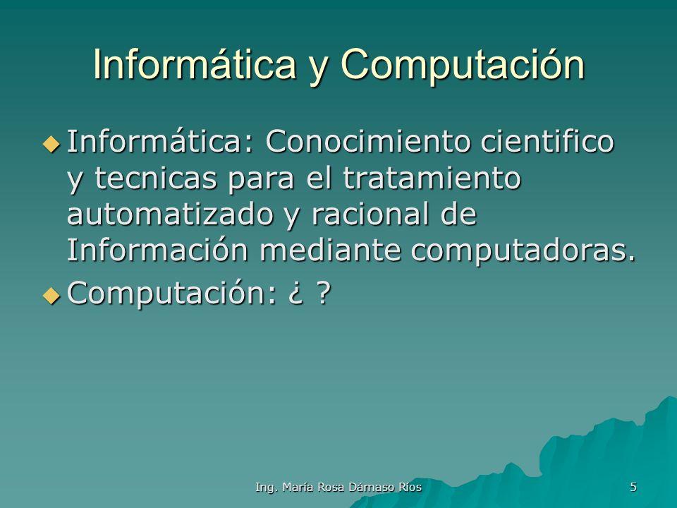 Informática y Computación