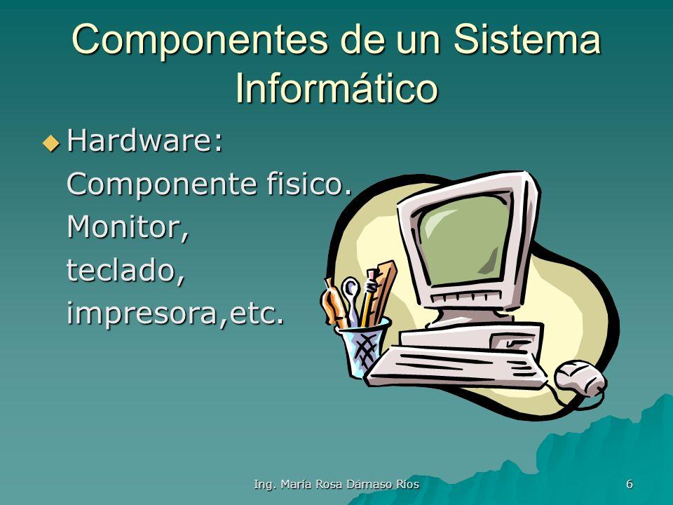 Componentes de un Sistema Informático