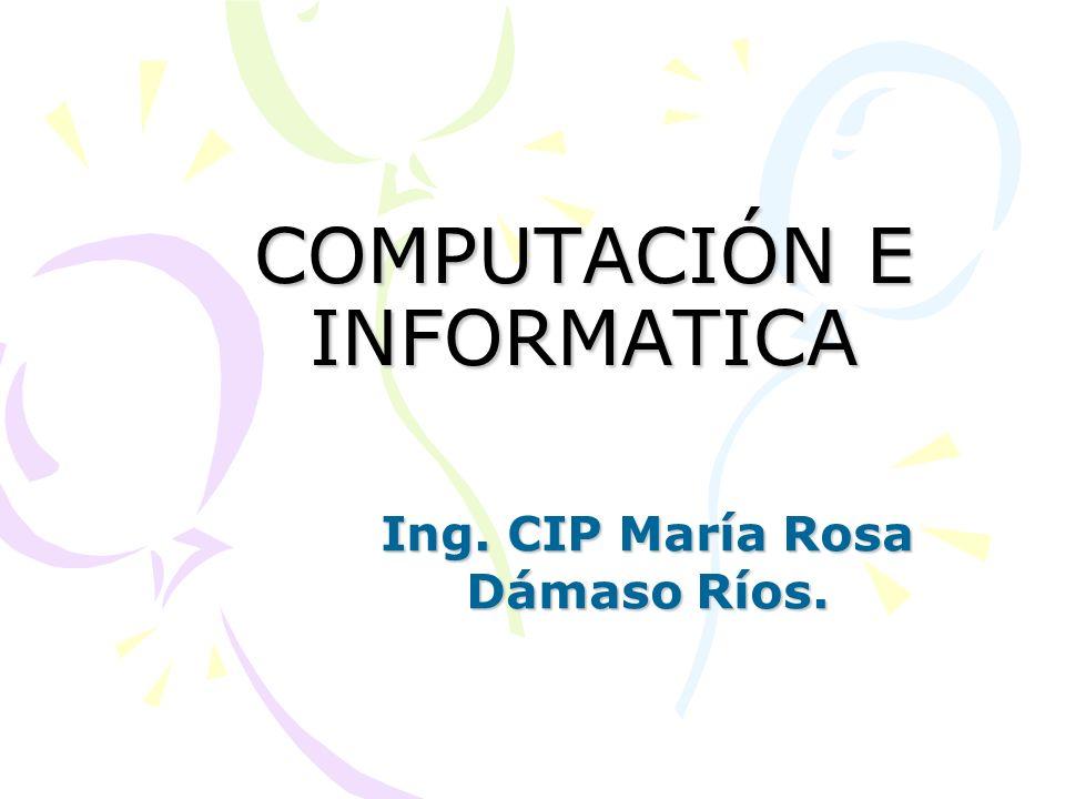 COMPUTACIÓN E INFORMATICA