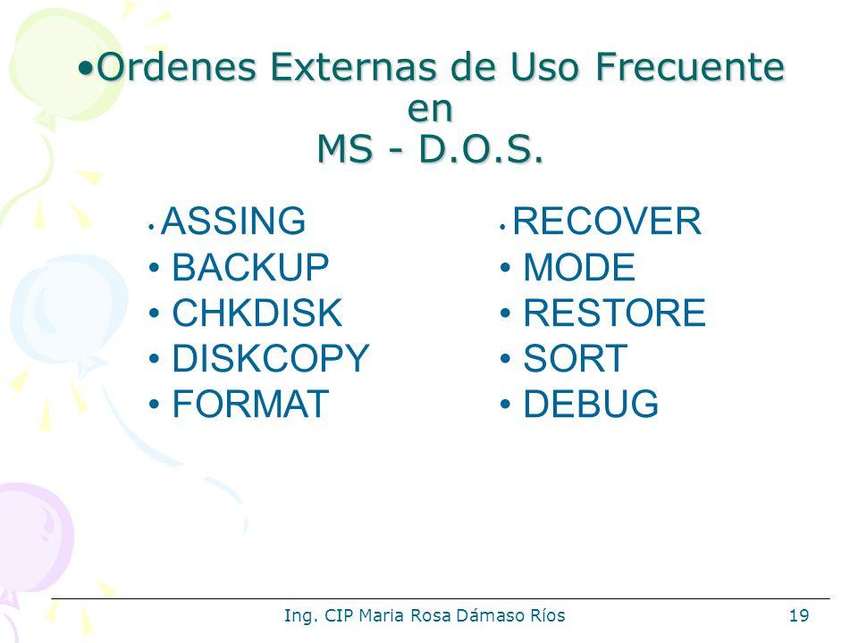 Ordenes Externas de Uso Frecuente en MS - D.O.S.