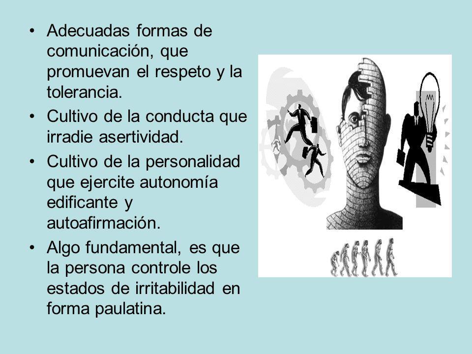 Adecuadas formas de comunicación, que promuevan el respeto y la tolerancia.