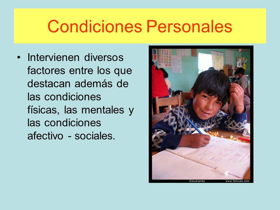 Condiciones Personales