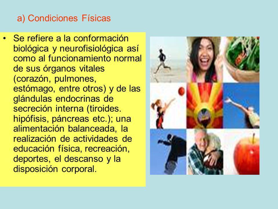 a) Condiciones Físicas