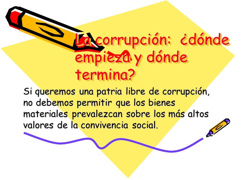 La corrupción: ¿dónde empieza y dónde termina