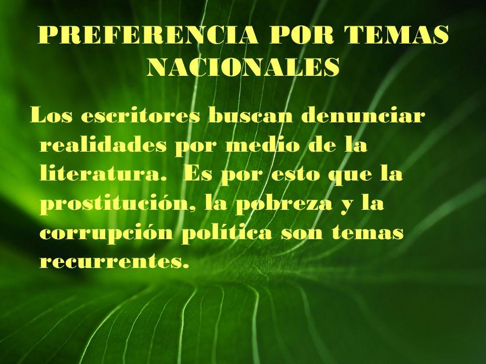 PREFERENCIA POR TEMAS NACIONALES