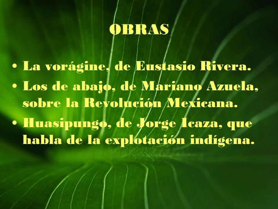 OBRAS La vorágine, de Eustasio Rivera.