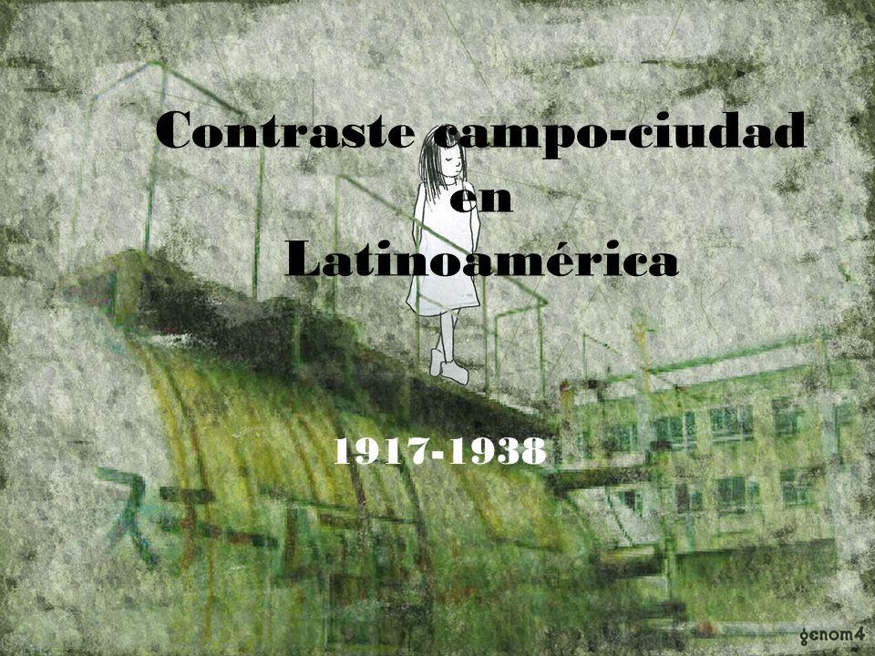 Contraste campo-ciudad en Latinoamérica