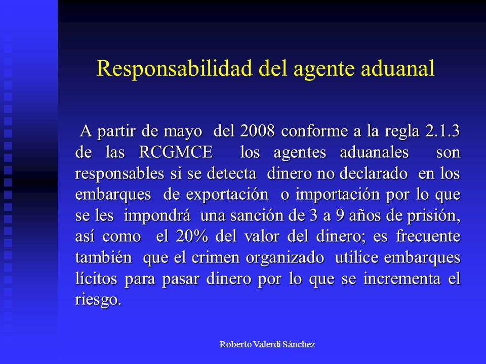 Responsabilidad del agente aduanal