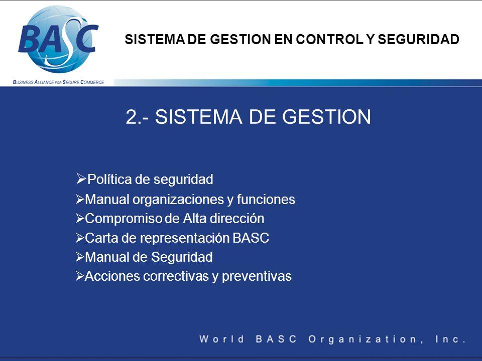 2.- SISTEMA DE GESTION Política de seguridad